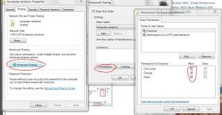 Cara Sharing Drive atau Folder Dalam Jaringan