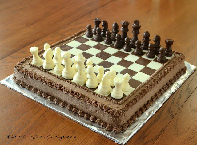Chess Decorated Cake