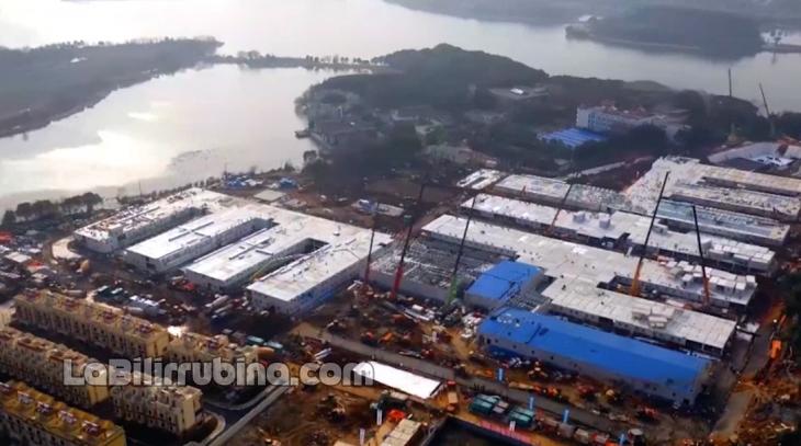 Construyen en ocho días tremendo hospital para pacientes con coronavirus en China