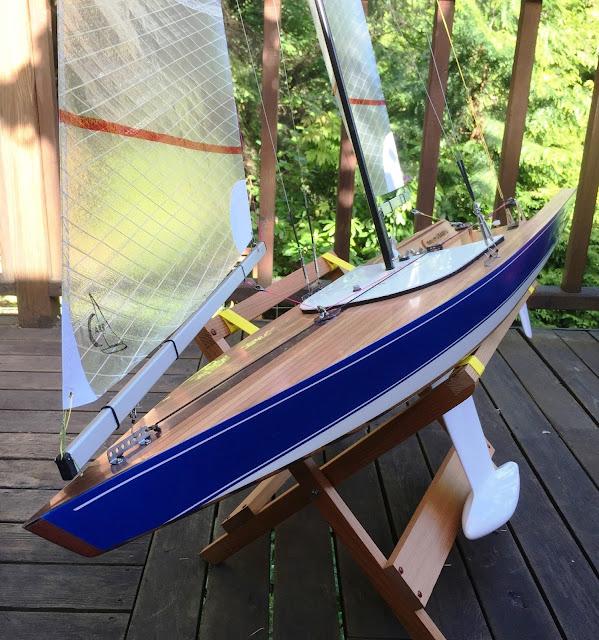 Salish 475 RC Sailboat beautiful wood art