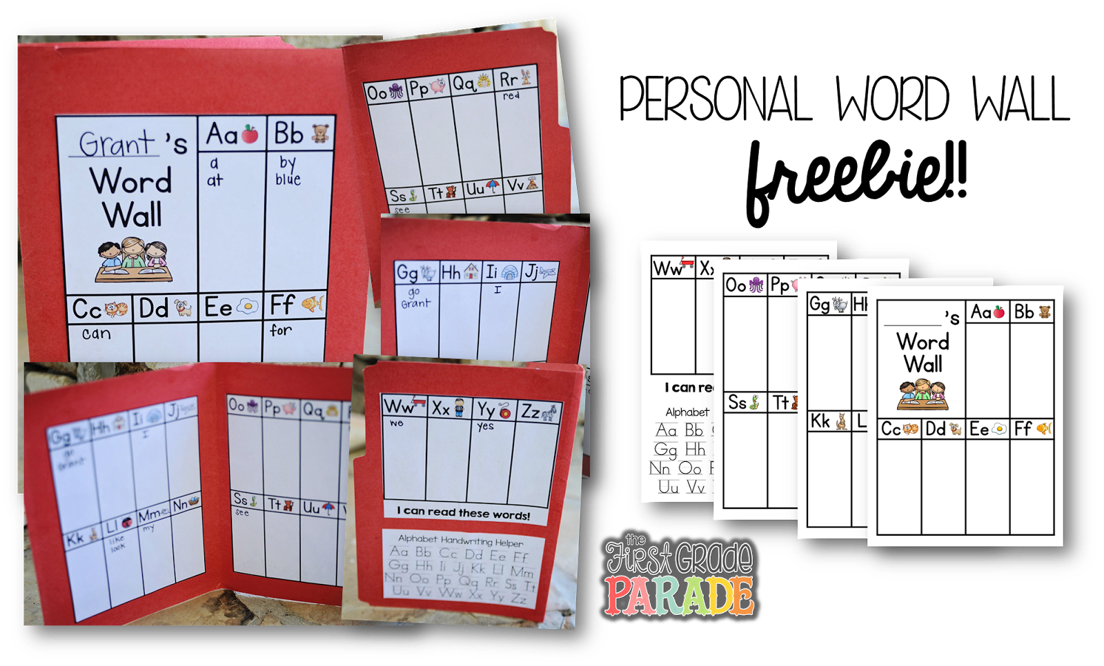Let 39 s talk word walls the first grade parade for Word wall template printable