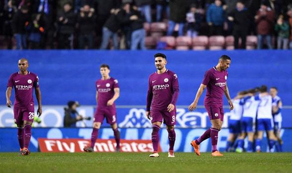 Cuplikan Gol Manchester City 0-1 Wigan Athletic | Piala FA Putaran 5