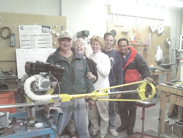 Norm involved with making boat motors to be used in the jungles of Peru