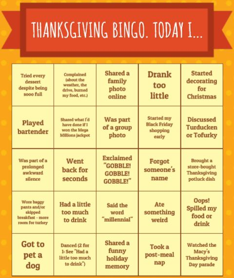 fun games to play at thanksgiving