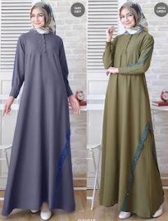 Baju Gamis Syar'i model Aline Basic