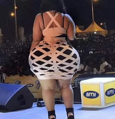 Gossip: Checkout lady who claims she has the biggest backside in West Africa