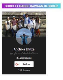 menambahkan badge profil google plus dengan memanfaatkan bawaan blogger