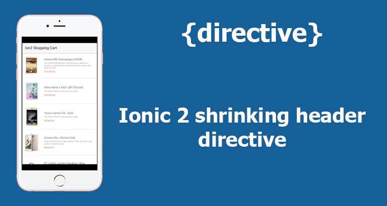 Building A Shrinking Header Directive In Ionic 2 - DevelopersLearnIt