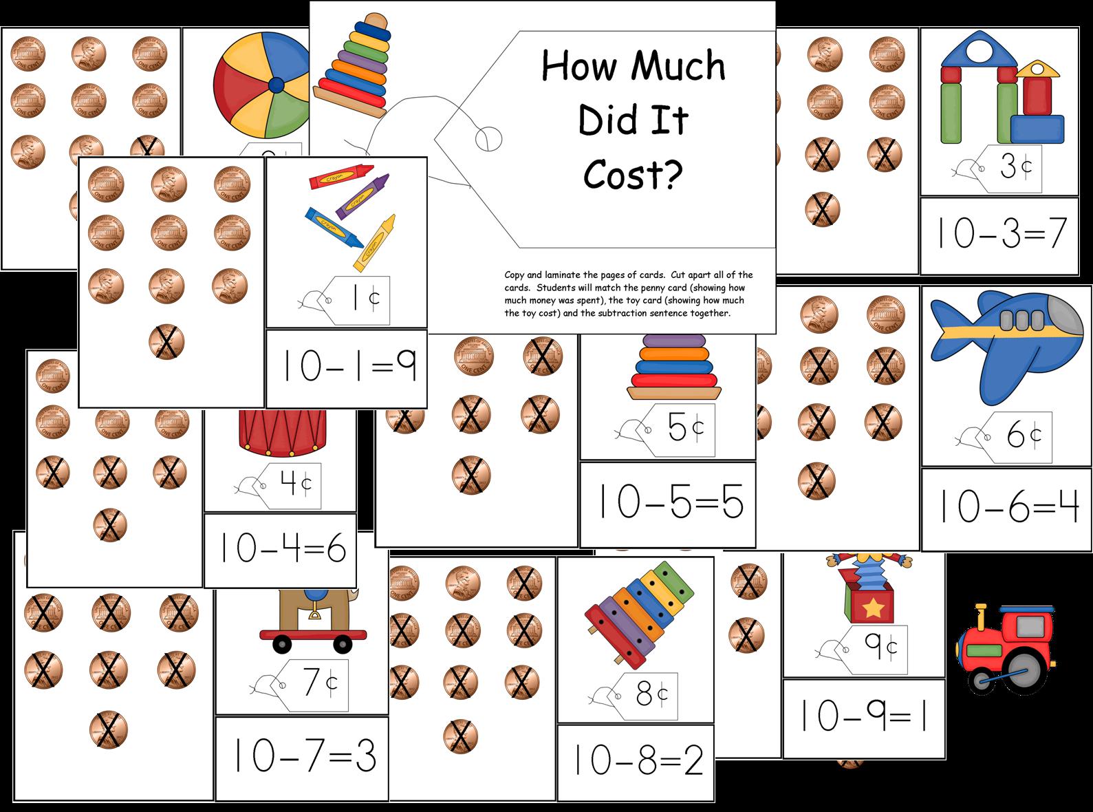 Sunflower Inspirations Toy Store Math Activities