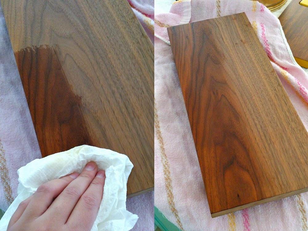 How to oil raw teak or walnut wood