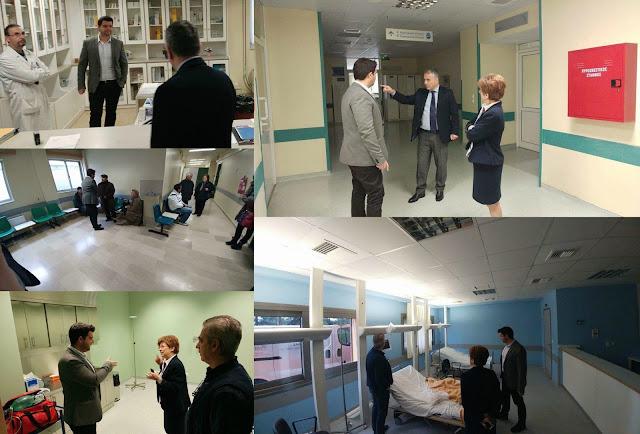 Επίσκεψη Μάριου Κάτση στο Νοσοκομείο Φιλιατών (+ΦΩΤΟ)