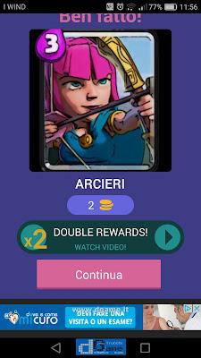 Indovina la carta Royale soluzione livello 71
