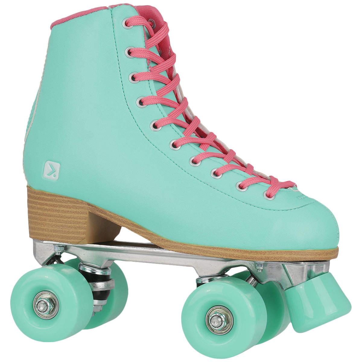 7c9ce5a42f9 Este tipo de patins é para Jam Skate e lazer. Base que aguenta o tranco e  com freios com regulagem de altura. Rodas para madeira e cimento. Média de  preços ...