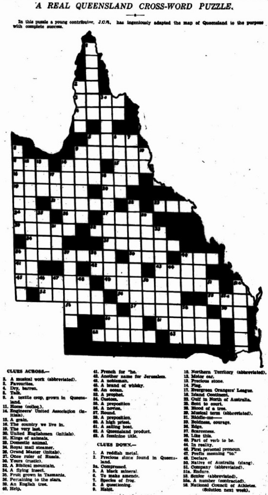 The McWhirters Project: A Real Queensland Crossword Puzzle
