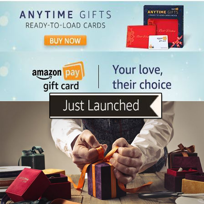 Amazon New Year Offer Any time Gifts Ready To Load Card - Gift Any Value Any Time