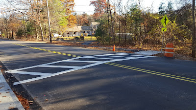 part of the new crossing at Pleasant and Green Sts