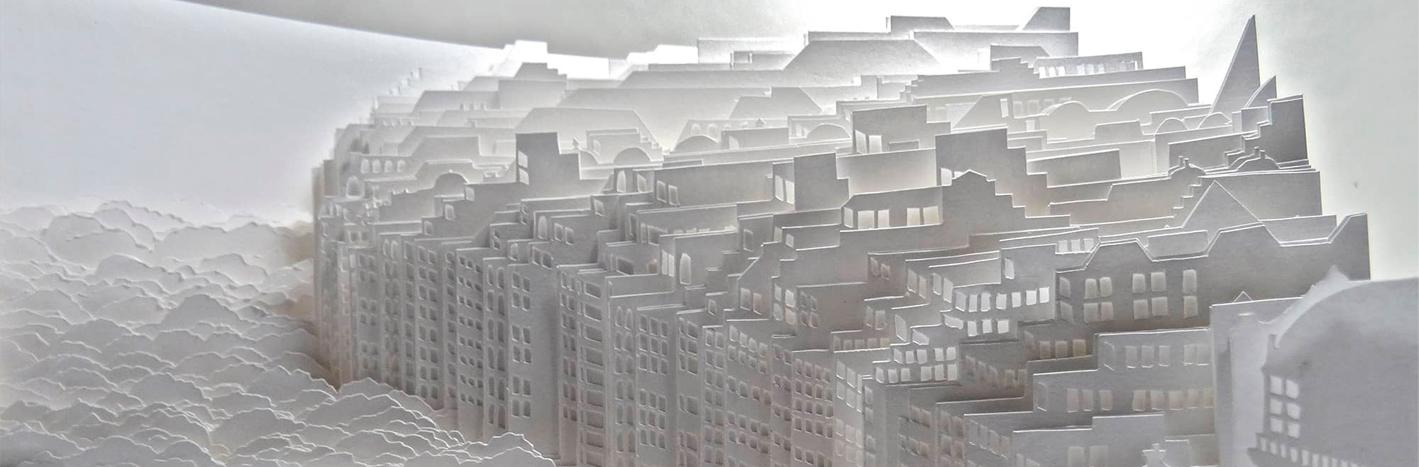 Paisajes en 3D de papel de Ayumi Shibata