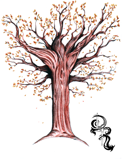 Derrick the Artist: How to Draw an Autumn Tree with ...