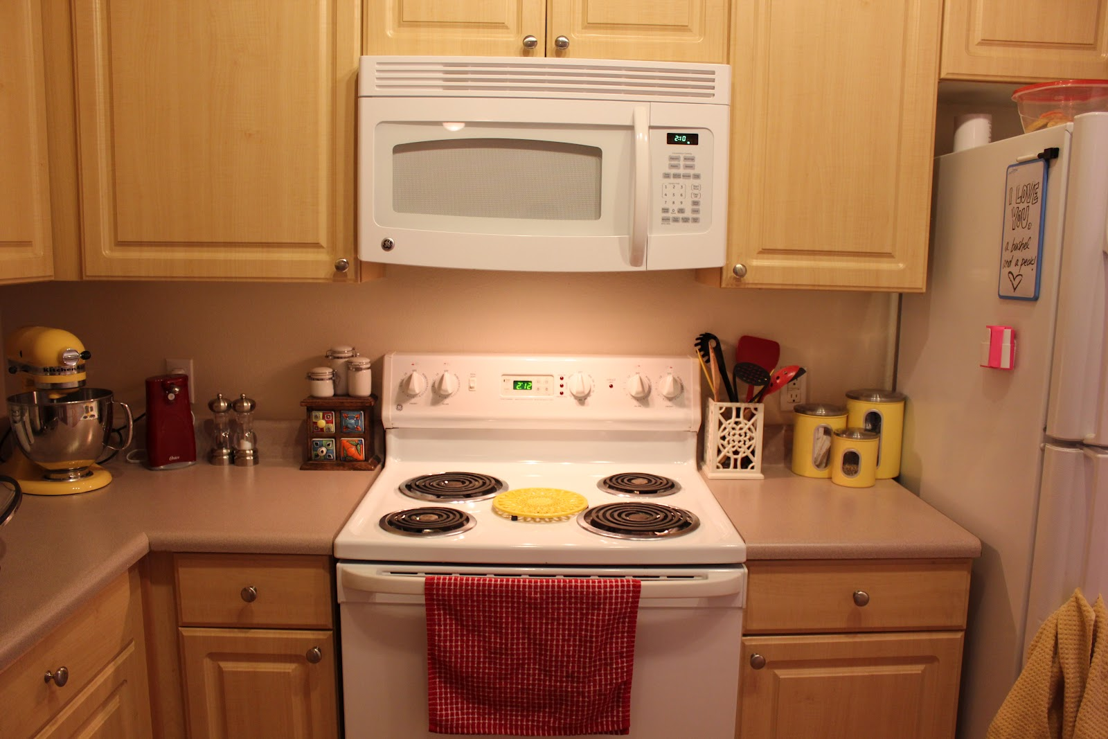 surprising yellow kitchen white appliances   The Cavanaughs as Coloradans: A View of Our Home! - Our ...