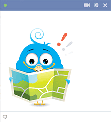 Bird with map icon