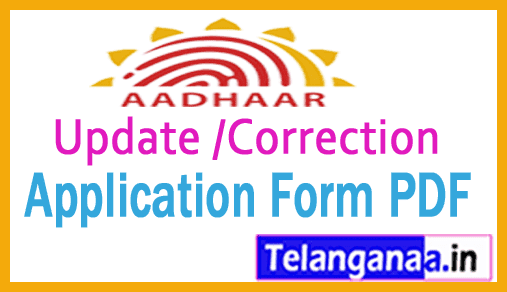 Uid Card Application Form Pdf