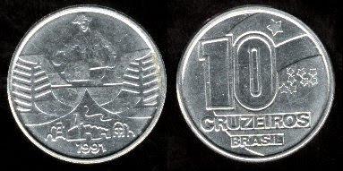 Brazil 10 Cruzeiros (1991-1992) thinner