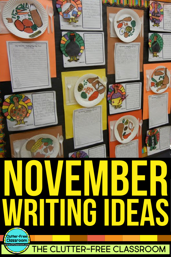 """These November activities, free printables, and a list of November books for kids will give first grade, second grade, and third grade teachers ideas for lessons, crafts and art projects for the fall /aumtum. From no prep November morning work to November writing prompts and journal covers, read alouds, and November bulletin board ideas this post is perfect for Kindergarten, fourth grade, fifth grade, and of course a homeschool too..         """