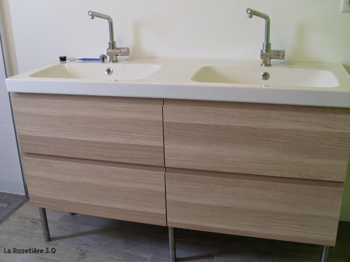 la ruzeti re 3 0 maison ossature bois rt 2012 salle de bain et chambre finies. Black Bedroom Furniture Sets. Home Design Ideas