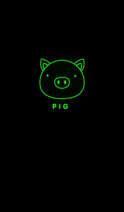Simple Light Green Pig Theme