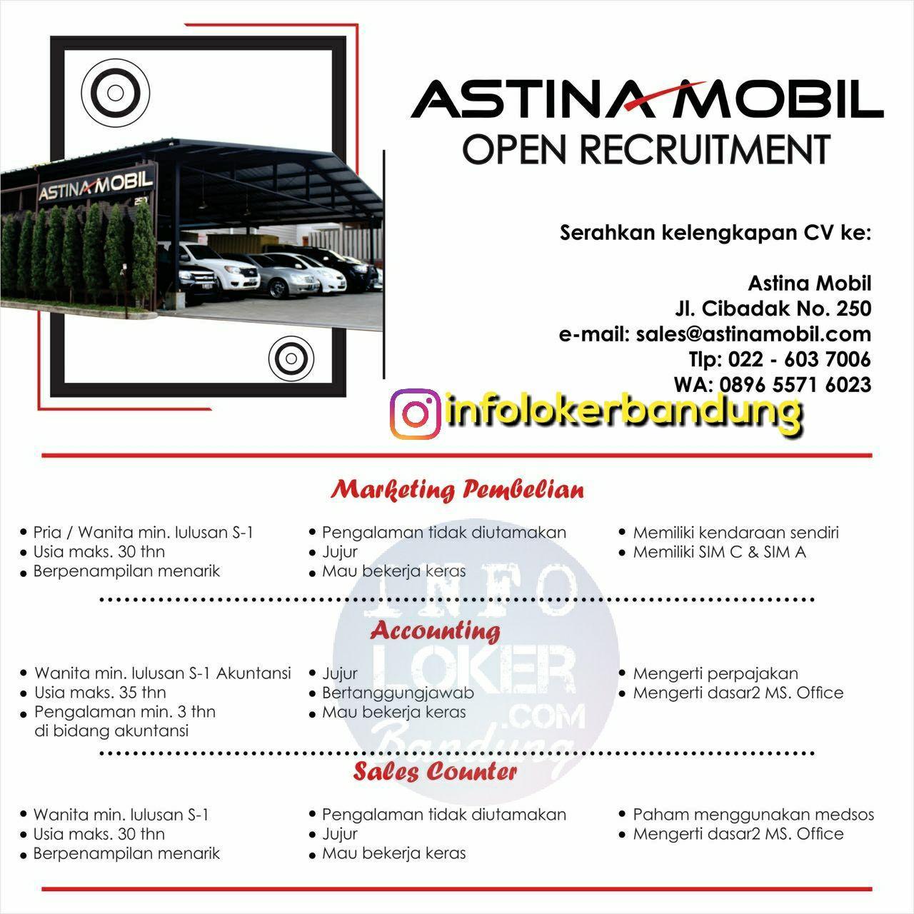 Lowongan Kerja Astina Mobil Bandung November 2017