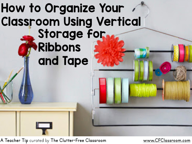 Are you wondering how to organize ribbons and tapes in the classroom? This classroom management tip will be helpful to elementary teachers.