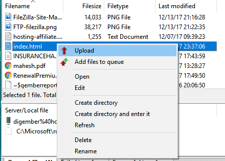 upload-file-using-filezilla