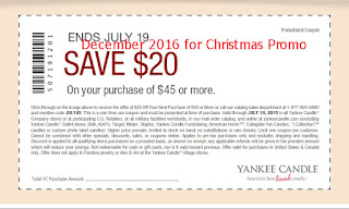 free Yankee Candle coupons for december 2016