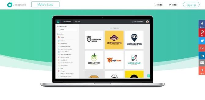 Design Evo - Genarator Terbaik untuk membuat Logo Secara Online