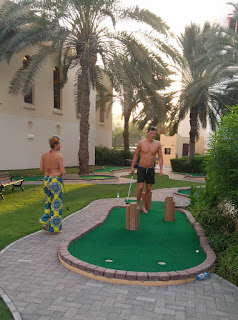 Mini Golf course at the Shangri-La Barr Al Jissah Resort and Spa in Muscat. Photo by Adam Trigg, October 2017