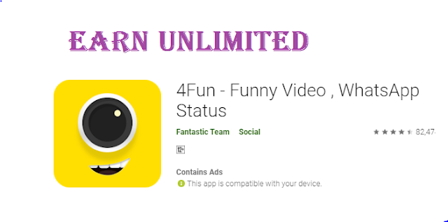 4FUN App- Rs.50 On Signup+Rs.7/Refer Free PayTM cash | Earn Unlimited