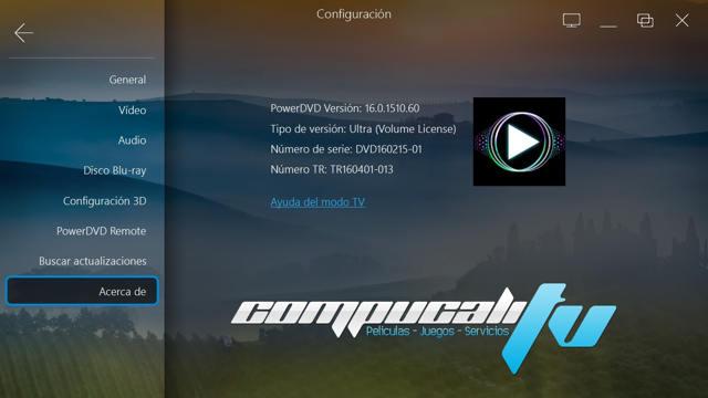 PowerDVD 16.0.1510.6 Ultra Español CyberLink Reproductor HD