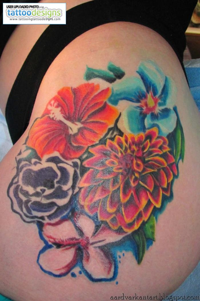 Flower Tattoo Designs Hip: Women Fashion And Lifestyles