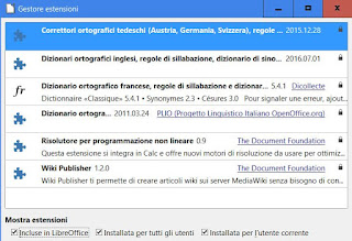 come installare estensioni in libreoffice
