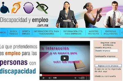 Discapacidad Empleo en Mexico bolsa de trabajo