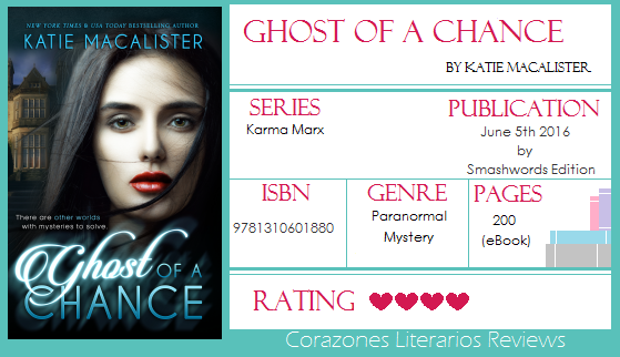 #BookReview: Ghost of a Chance by Katie MacAlister