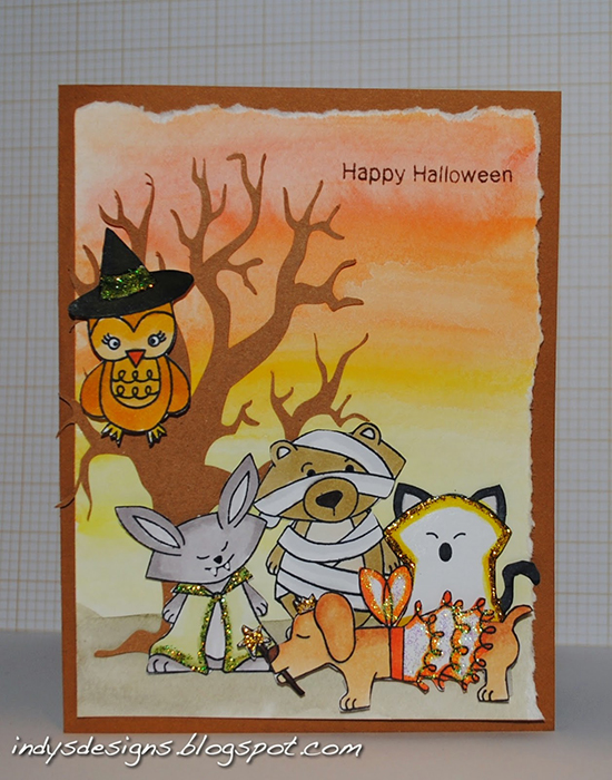 Halloween Critters Card by Indy | Boo Crew Stamp set by Newton's Nook Designs #newtonsnook