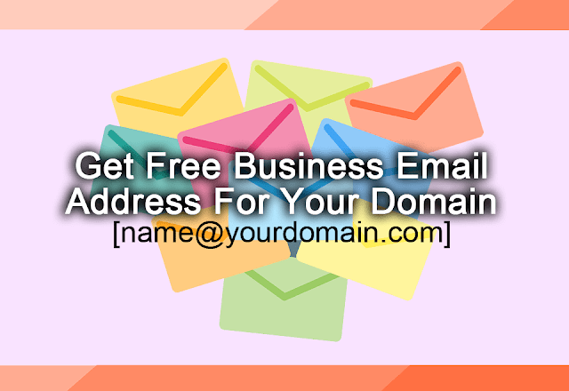 get free email address for your domain
