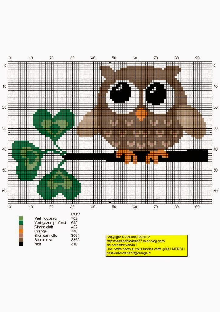 Cross Stitch Owls Free Patterns