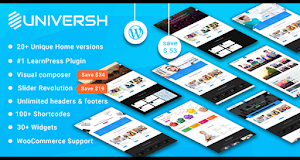 Universh offers awesome features and extensions that will make your site stands out