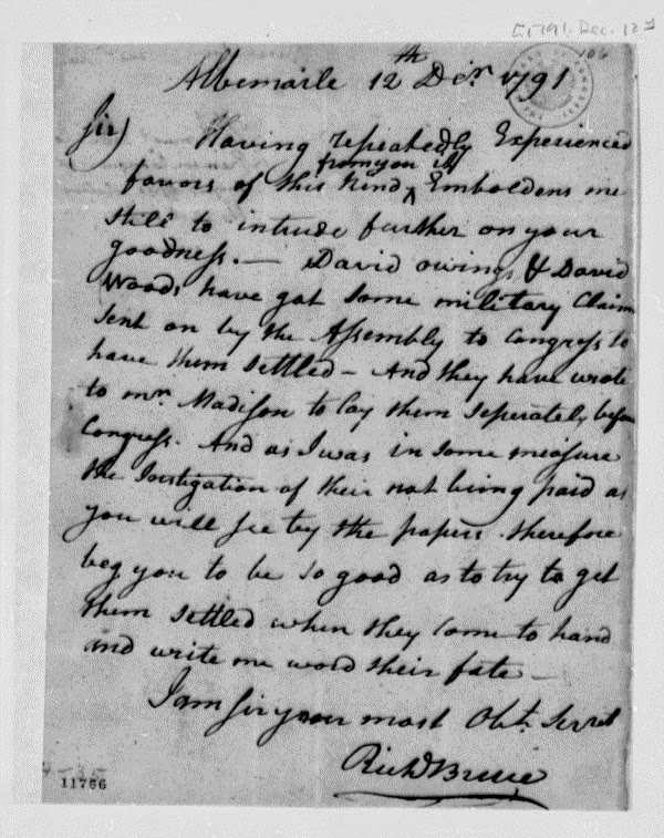 Richard Bruce 1791 letter to Thomas Jefferson http://jollettetc.blogspot.com