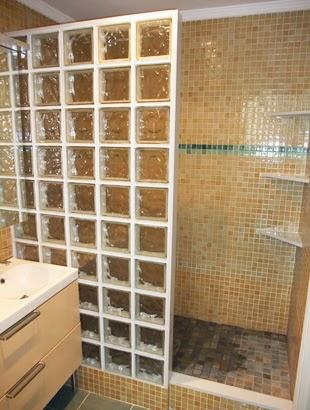 Como instalar bloques de vidrio aprender hacer bricolaje - Instalar una mampara de ducha ...