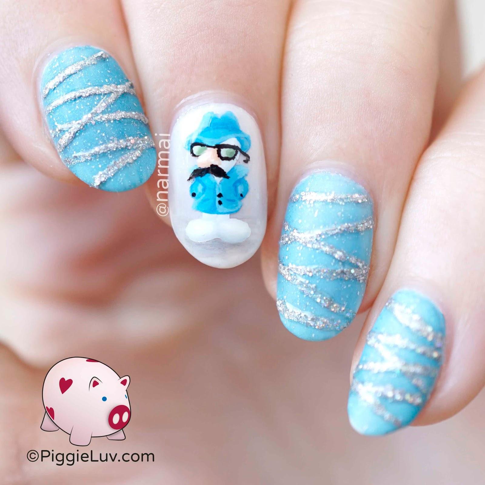 PiggieLuv: Undercover snowman nail art
