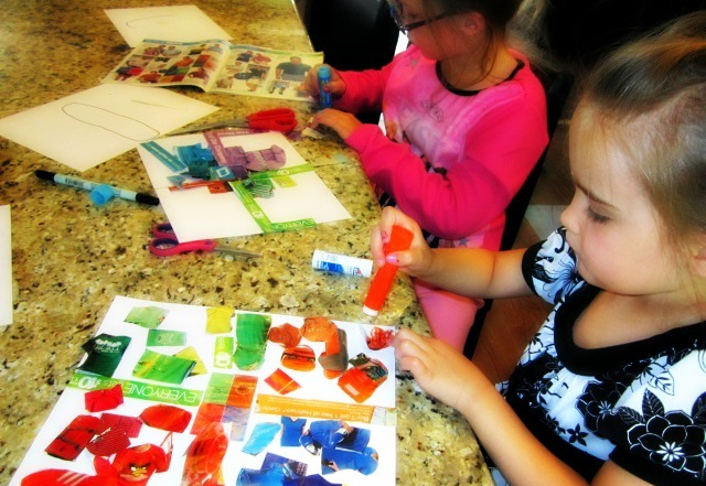 simple and easy paper collages for kids craft ideas and art projects