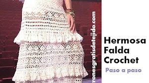 Falda Vintage a Crochet / Paso a paso